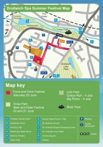Droitwich Festival Map